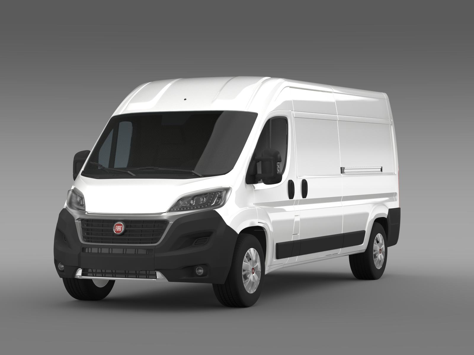 fiat ducato van l3h2 2015 3d model buy fiat ducato van. Black Bedroom Furniture Sets. Home Design Ideas