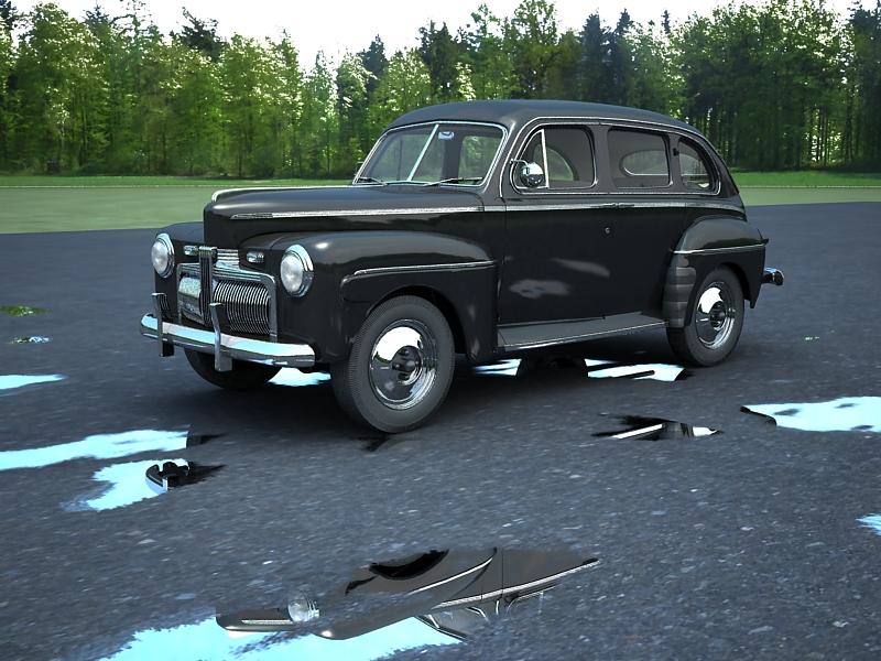 ford fordor 1942 3d model max 162995
