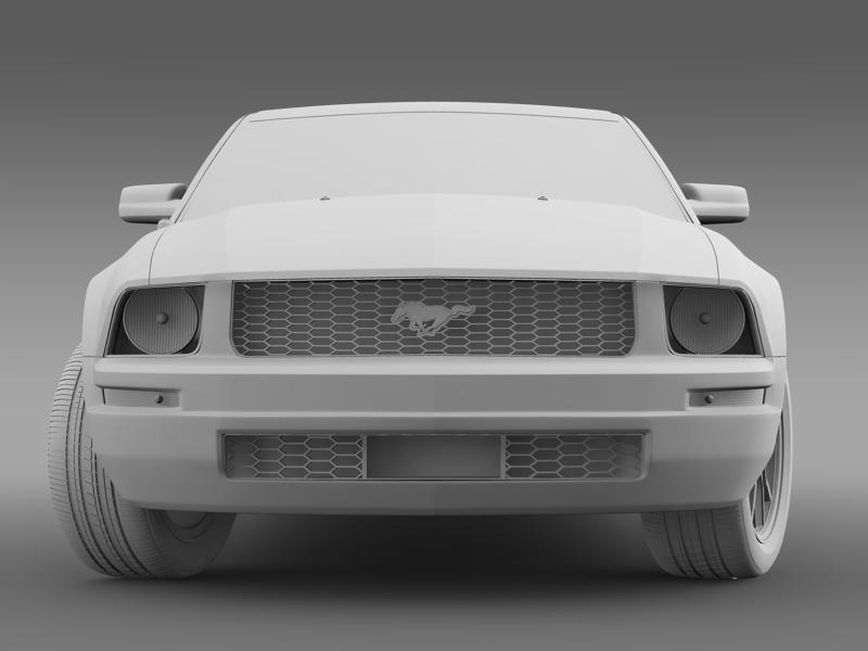 ford mustang 2005 3d model 3d max fbx c4d lwo ma mb hrc xsi obj 140535