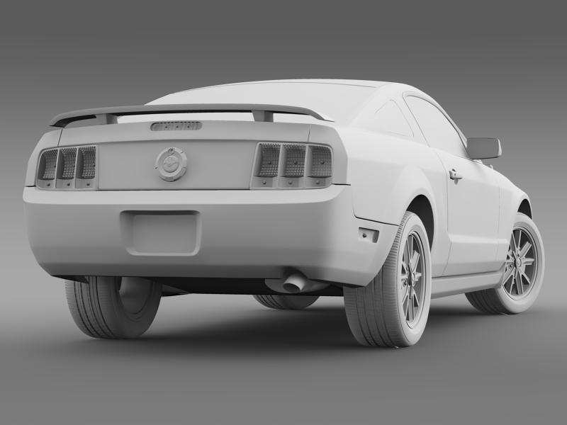 ford mustang 2005 3d model 3d max fbx c4d lwo ma mb hrc xsi obj 140539