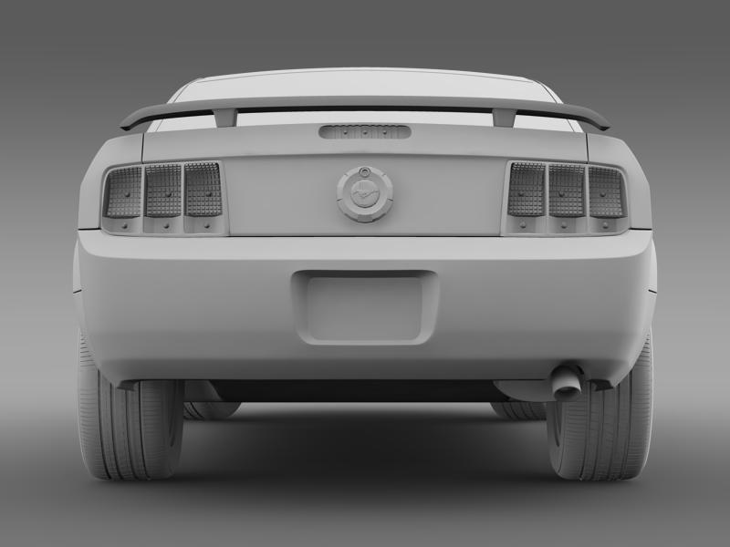 ford mustang 2005 3d model 3d max fbx c4d lwo ma mb hrc xsi obj 140540