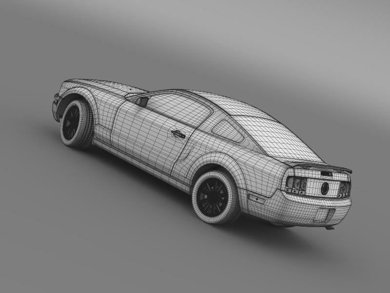ford mustang 2005 3d model 3d max fbx c4d lwo ma mb hrc xsi obj 140543