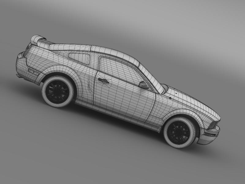 ford mustang 2005 3d model 3d max fbx c4d lwo ma mb hrc xsi obj 140545