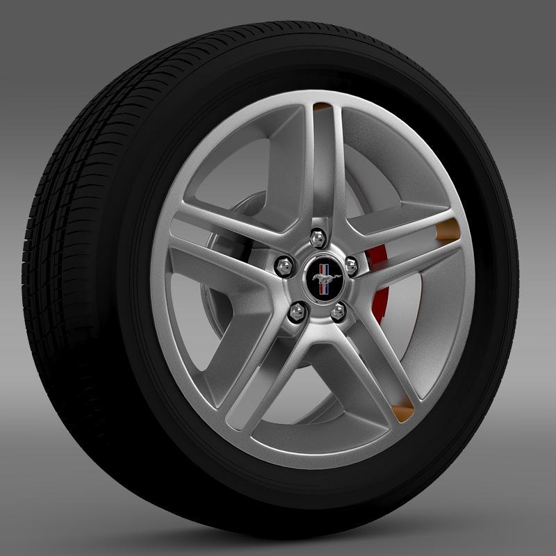 ford mustang 2010 x roda 10 3d model 3ds màxim fbx c4d lwo ma mb hrc xsi obj 138237