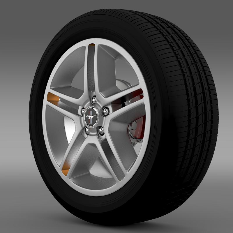 ford mustang 2010 av x 10 wheel 3d model 3ds max fbx c4d lwo ma mb hrc xsi obj 138238