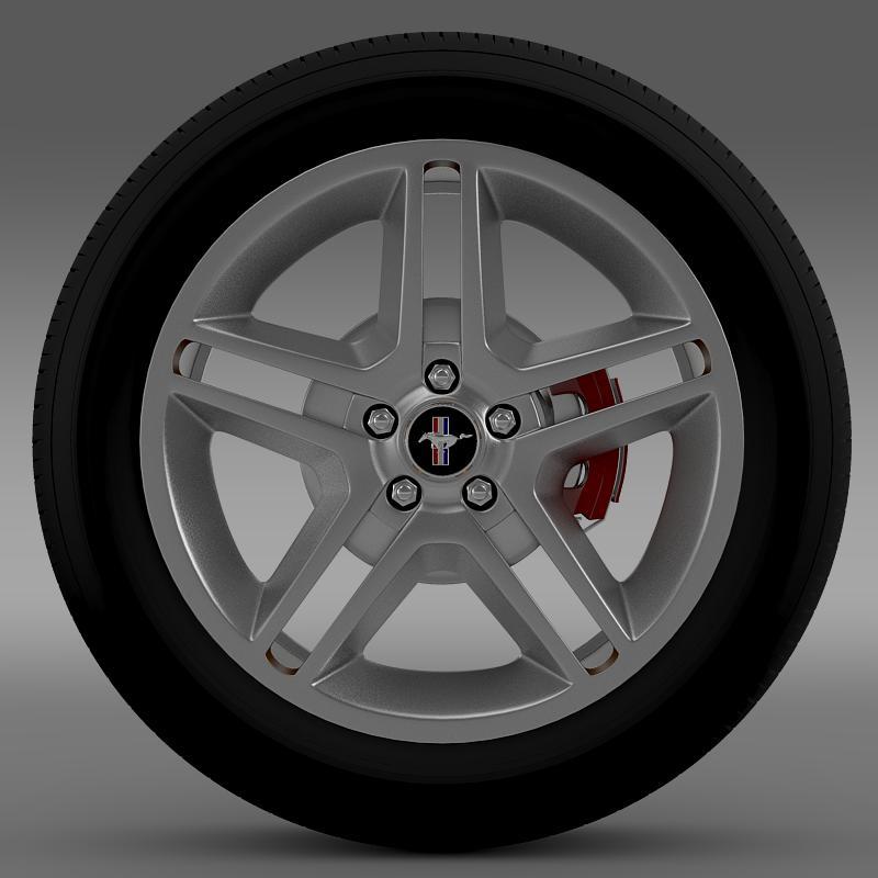 ford mustang 2010 av x 10 wheel 3d model 3ds max fbx c4d lwo ma mb hrc xsi obj 138239