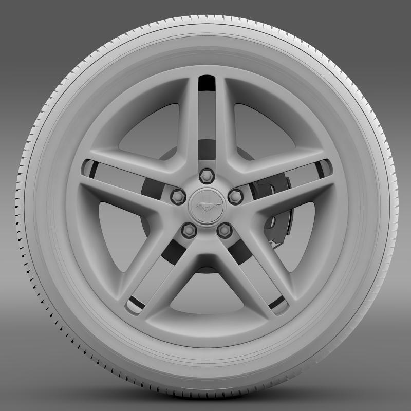 ford mustang 2010 av x 10 wheel 3d model 3ds max fbx c4d lwo ma mb hrc xsi obj 138245