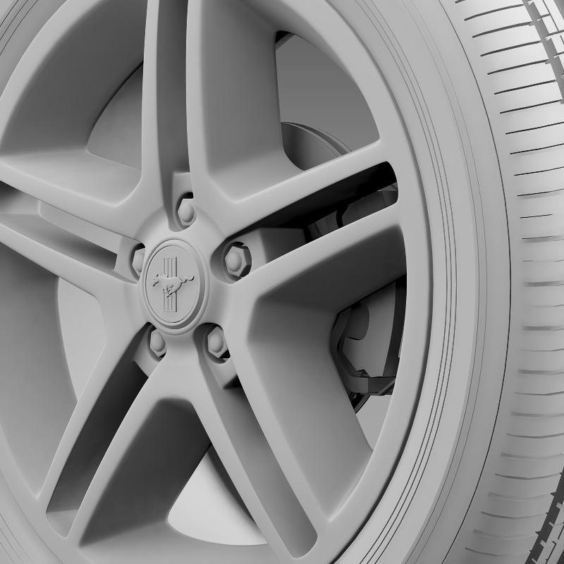 ford mustang 2010 av x 10 wheel 3d model 3ds max fbx c4d lwo ma mb hrc xsi obj 138247