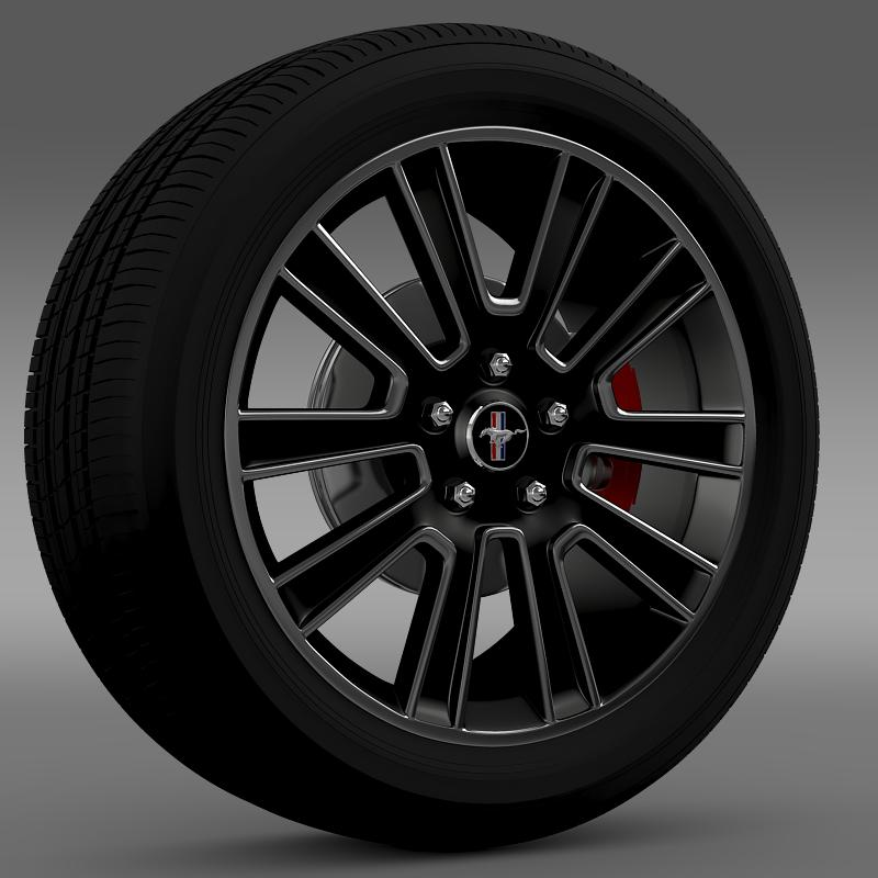 ford mustang 2010 wheel 3d model 3ds max fbx c4d lwo ma mb hrc xsi obj 138250