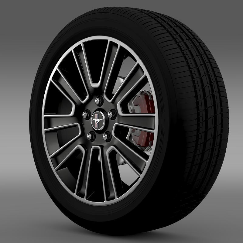 ford mustang 2010 wheel 3d model 3ds max fbx c4d lwo ma mb hrc xsi obj 138251