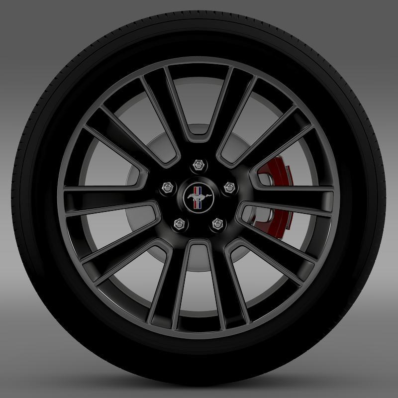 ford mustang 2010 wheel 3d model 3ds max fbx c4d lwo ma mb hrc xsi obj 138252