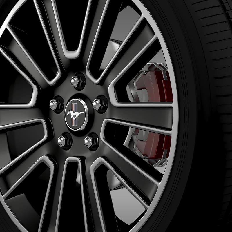ford mustang 2010 wheel 3d model 3ds max fbx c4d lwo ma mb hrc xsi obj 138254