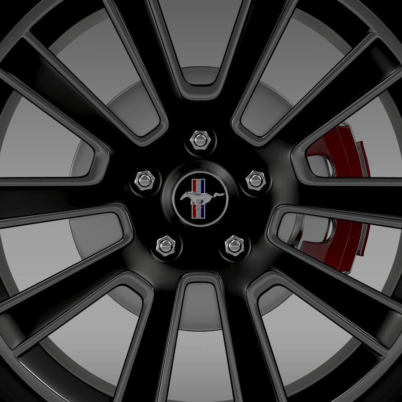 ford mustang 2010 wheel 3d model 3ds max fbx c4d lwo ma mb hrc xsi obj 138255