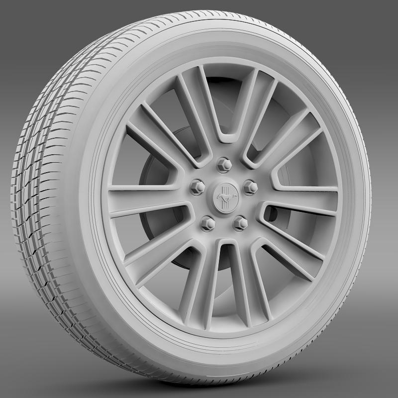 ford mustang 2010 wheel 3d model 3ds max fbx c4d lwo ma mb hrc xsi obj 138256