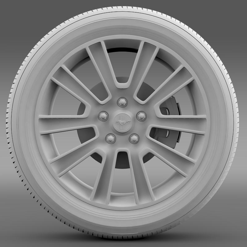 ford mustang 2010 wheel 3d model 3ds max fbx c4d lwo ma mb hrc xsi obj 138258