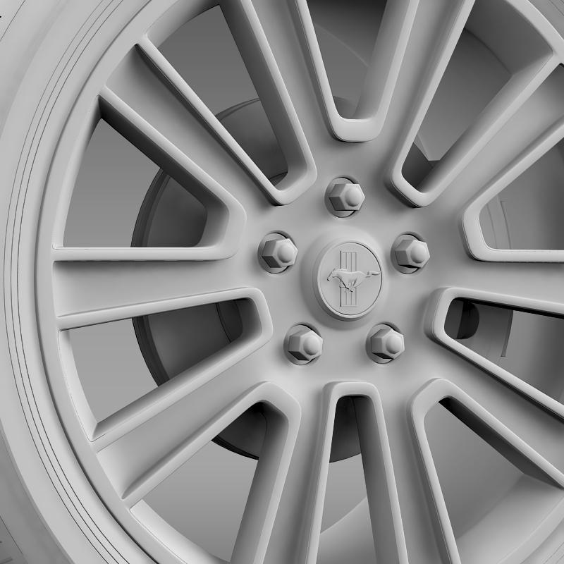 ford mustang 2010 wheel 3d model 3ds max fbx c4d lwo ma mb hrc xsi obj 138259