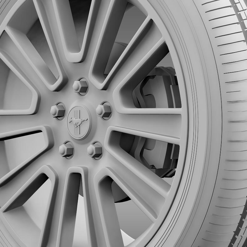 ford mustang 2010 wheel 3d model 3ds max fbx c4d lwo ma mb hrc xsi obj 138260