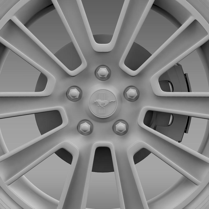 ford mustang 2010 wheel 3d model 3ds max fbx c4d lwo ma mb hrc xsi obj 138261