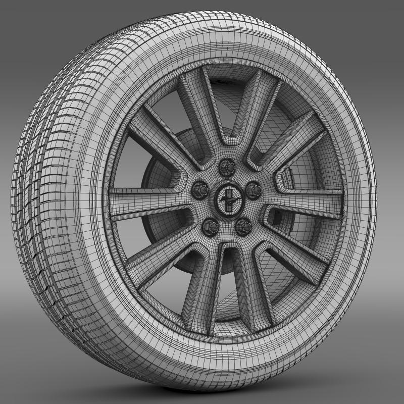 ford mustang 2010 wheel 3d model 3ds max fbx c4d lwo ma mb hrc xsi obj 138262