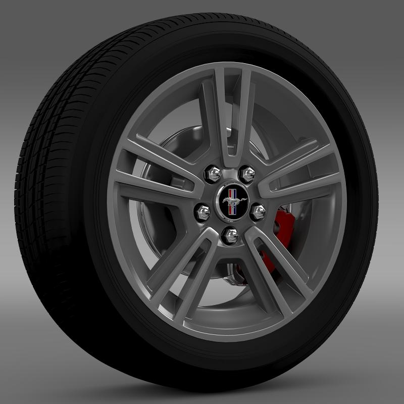 ford mustang 2013 wheel 3d model 3ds max fbx c4d lwo ma mb hrc xsi obj 138263