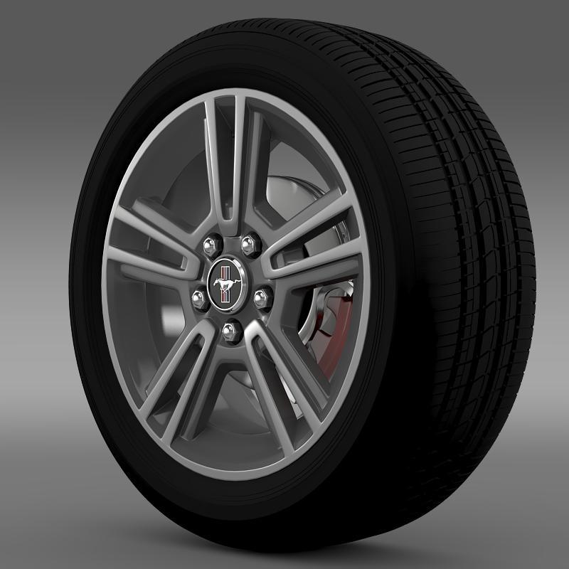 ford mustang 2013 wheel 3d model 3ds max fbx c4d lwo ma mb hrc xsi obj 138264