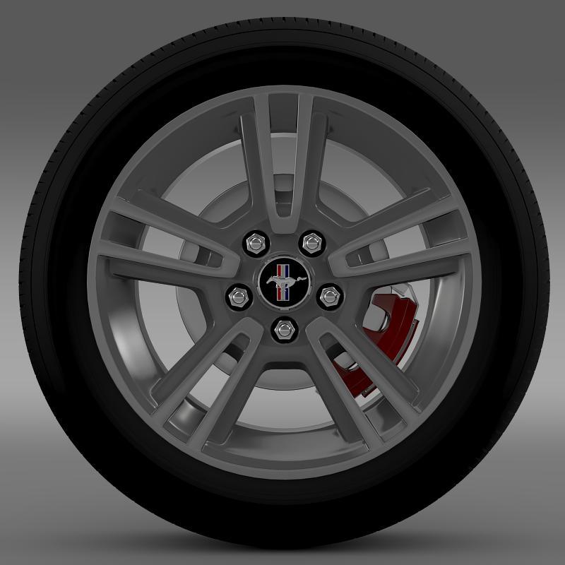 ford mustang 2013 wheel 3d model 3ds max fbx c4d lwo ma mb hrc xsi obj 138265