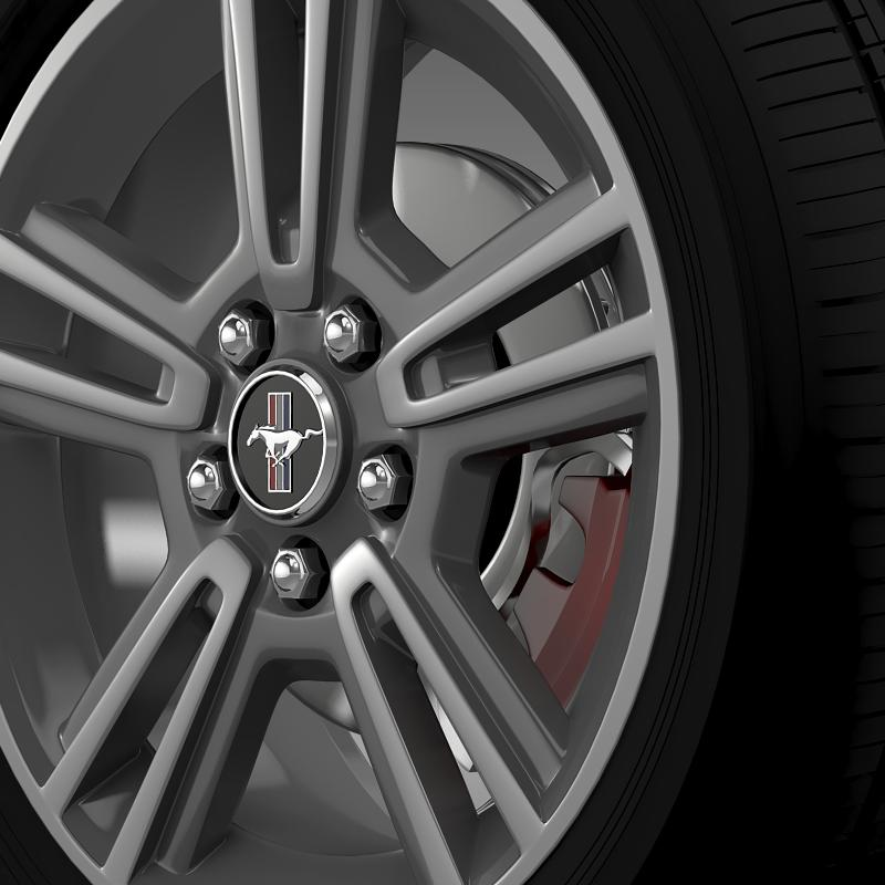 ford mustang 2013 wheel 3d model 3ds max fbx c4d lwo ma mb hrc xsi obj 138266