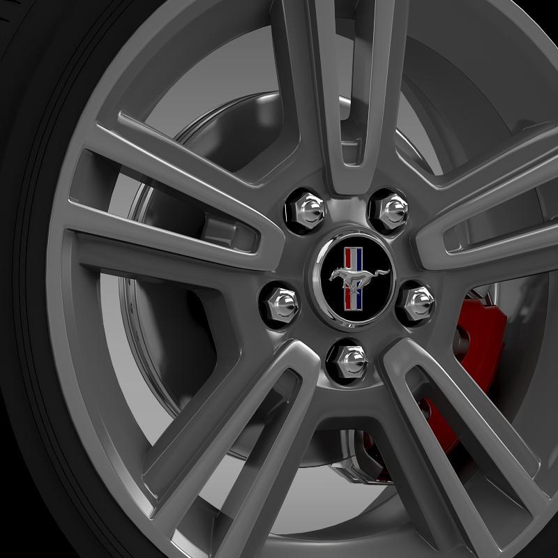 ford mustang 2013 wheel 3d model 3ds max fbx c4d lwo ma mb hrc xsi obj 138267