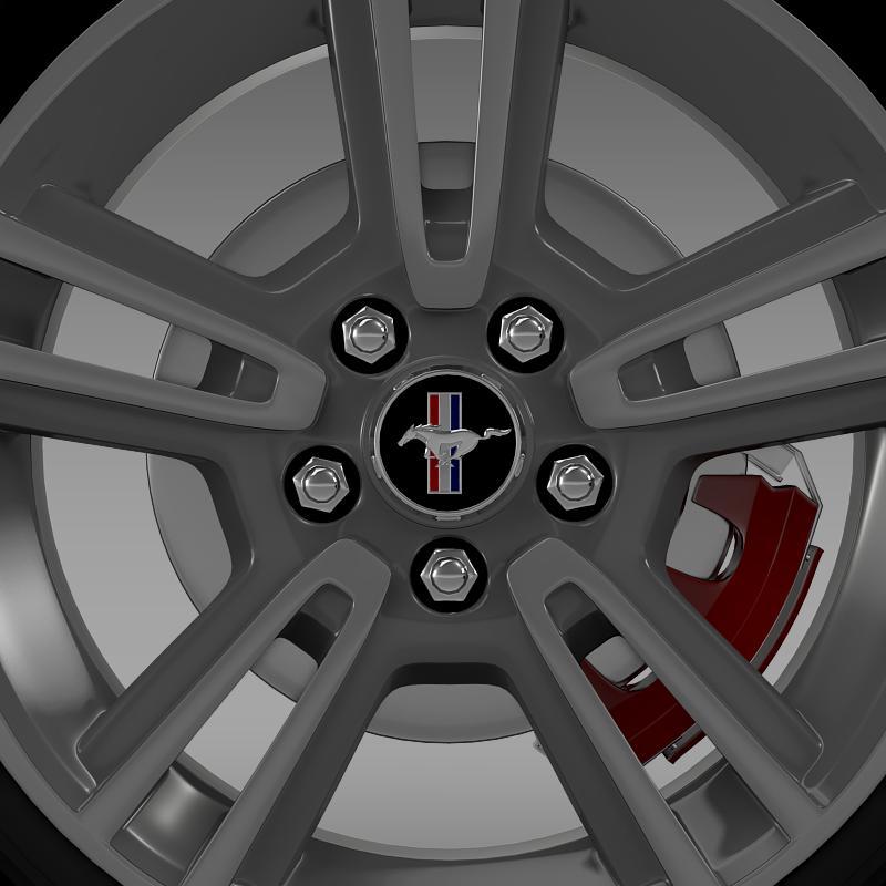 ford mustang 2013 wheel 3d model 3ds max fbx c4d lwo ma mb hrc xsi obj 138268