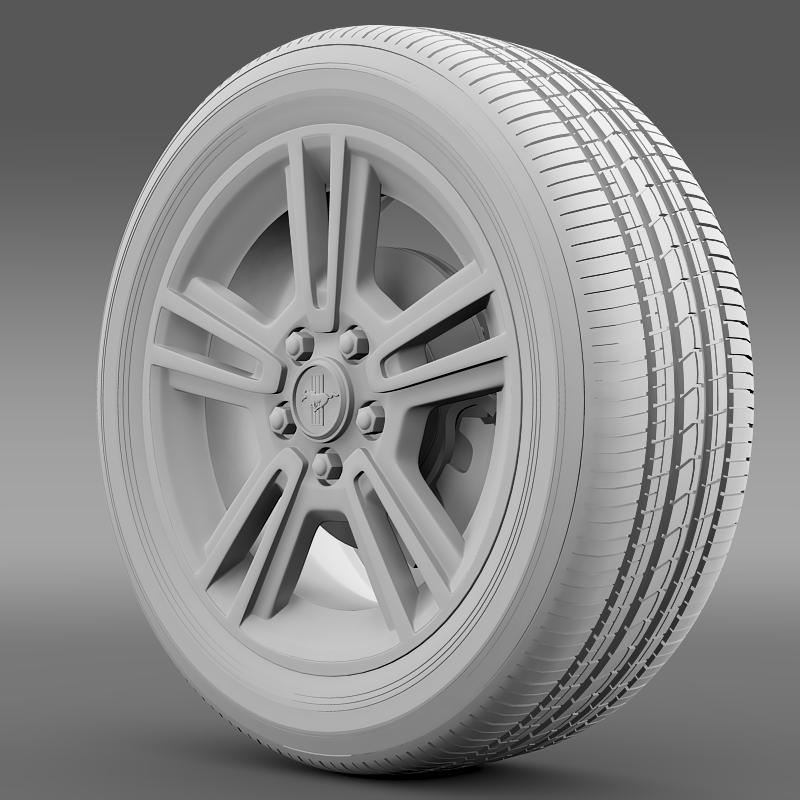 ford mustang 2013 wheel 3d model 3ds max fbx c4d lwo ma mb hrc xsi obj 138269