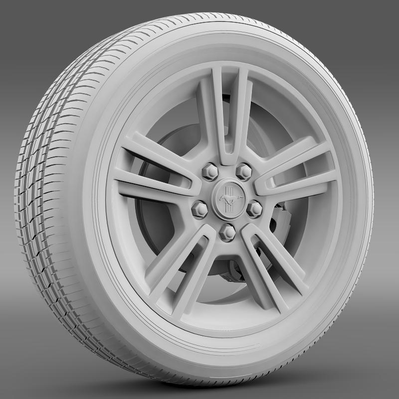 ford mustang 2013 wheel 3d model 3ds max fbx c4d lwo ma mb hrc xsi obj 138270
