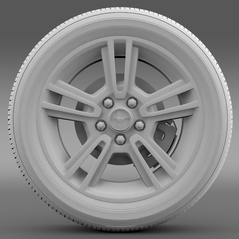 ford mustang 2013 wheel 3d model 3ds max fbx c4d lwo ma mb hrc xsi obj 138271