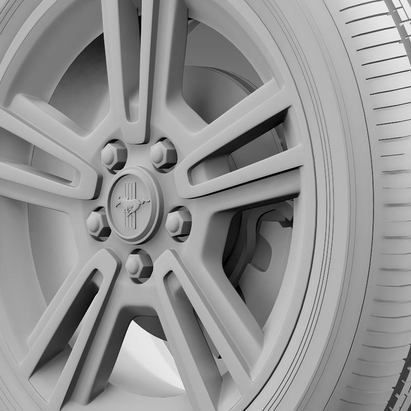 ford mustang 2013 wheel 3d model 3ds max fbx c4d lwo ma mb hrc xsi obj 138272