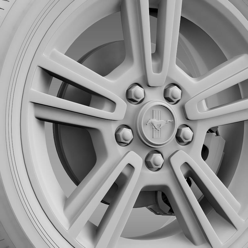 ford mustang 2013 wheel 3d model 3ds max fbx c4d lwo ma mb hrc xsi obj 138273