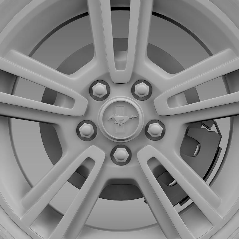 ford mustang 2013 wheel 3d model 3ds max fbx c4d lwo ma mb hrc xsi obj 138274