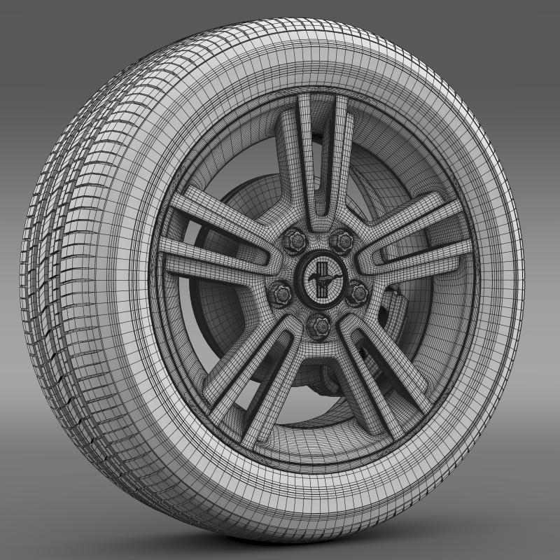 ford mustang 2013 wheel 3d model 3ds max fbx c4d lwo ma mb hrc xsi obj 138275