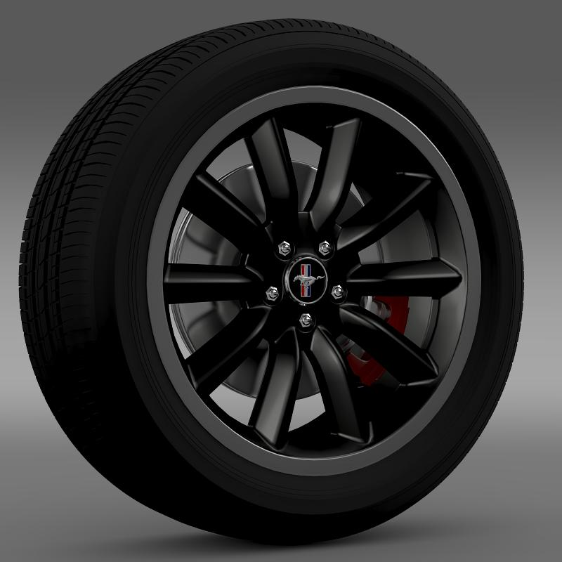 ford mustang boss 302 2012 wheel 3d model 3ds max fbx c4d lwo ma mb hrc xsi obj 138276