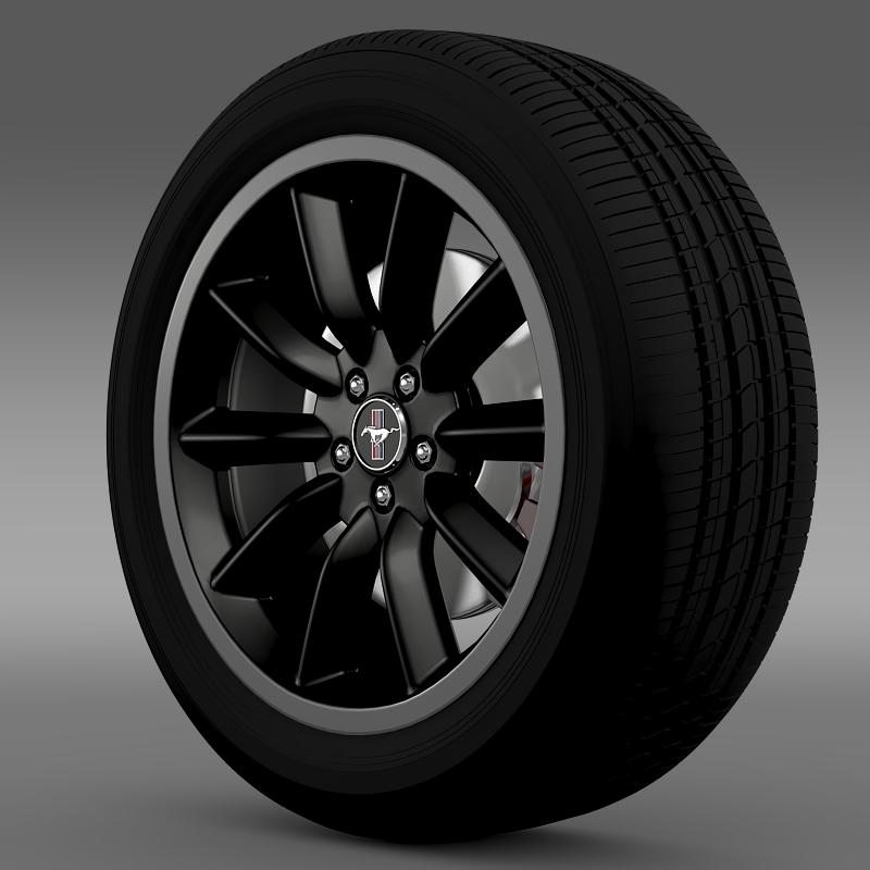 ford mustang boss 302 2012 wheel 3d model 3ds max fbx c4d lwo ma mb hrc xsi obj 138277