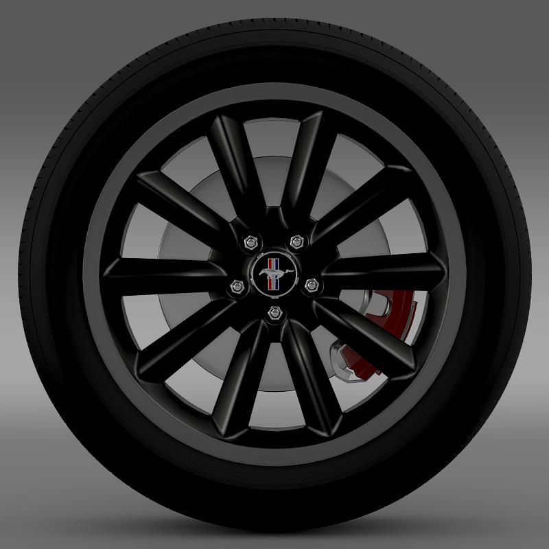 ford mustang boss 302 2012 wheel 3d model 3ds max fbx c4d lwo ma mb hrc xsi obj 138278