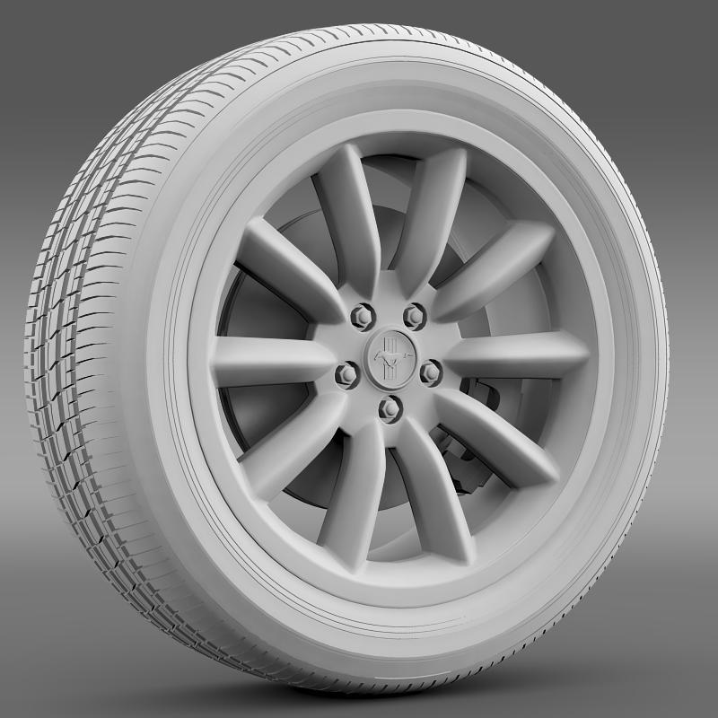 ford mustang boss 302 2012 wheel 3d model 3ds max fbx c4d lwo ma mb hrc xsi obj 138282
