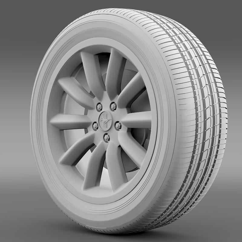 ford mustang boss 302 2012 wheel 3d model 3ds max fbx c4d lwo ma mb hrc xsi obj 138283