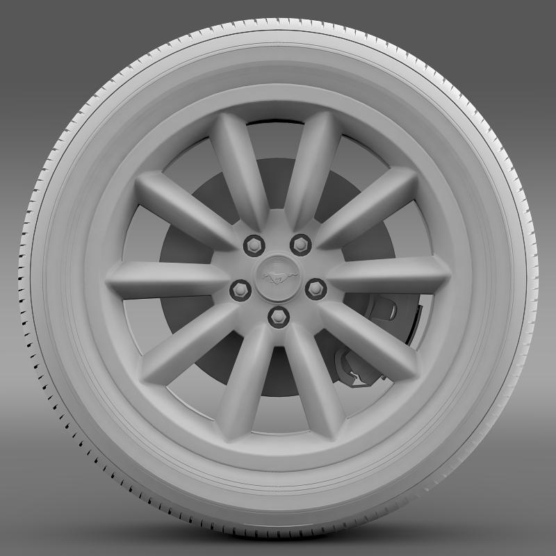 ford mustang boss 302 2012 wheel 3d model 3ds max fbx c4d lwo ma mb hrc xsi obj 138284
