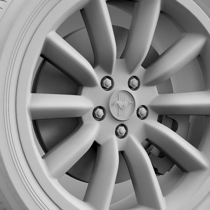ford mustang boss 302 2012 wheel 3d model 3ds max fbx c4d lwo ma mb hrc xsi obj 138285