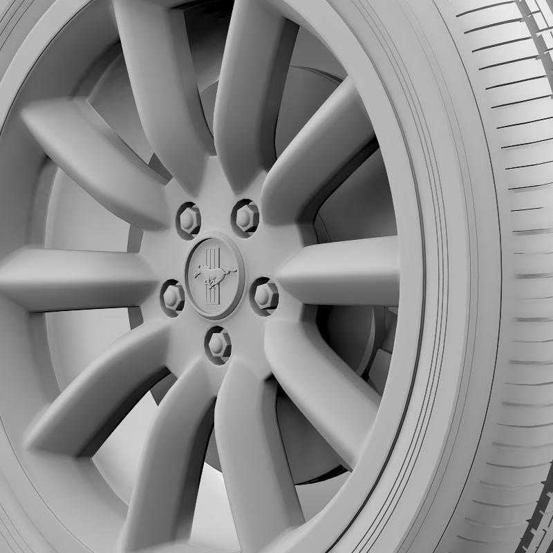 ford mustang boss 302 2012 wheel 3d model 3ds max fbx c4d lwo ma mb hrc xsi obj 138286