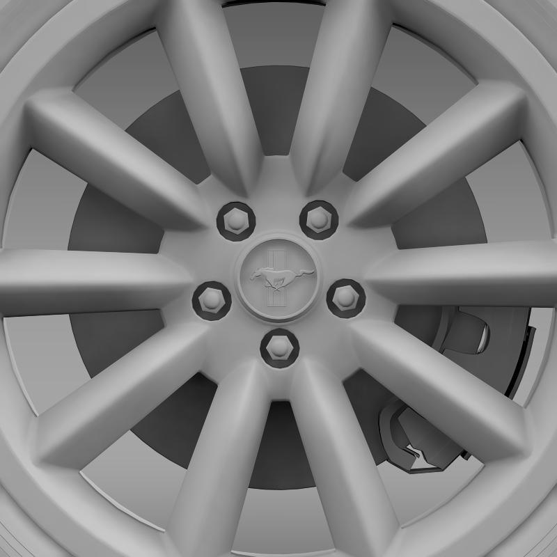 ford mustang boss 302 2012 wheel 3d model 3ds max fbx c4d lwo ma mb hrc xsi obj 138287