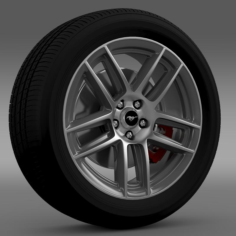 ford mustang boss 302 2013 wheel 3d model max fbx c4d lwo ma mb 139584