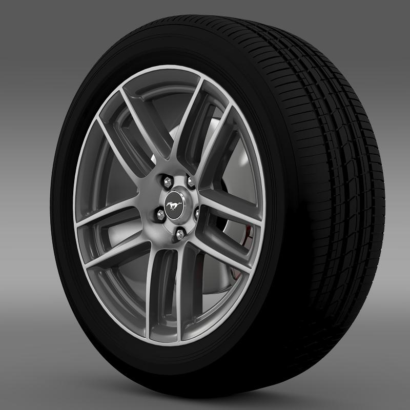 ford mustang boss 302 2013 wheel 3d model max fbx c4d lwo ma mb 139585