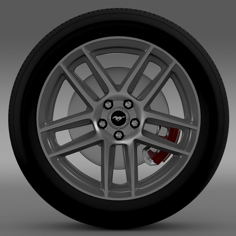 ford mustang boss 302 2013 wheel 3d model max fbx c4d lwo ma mb 139586