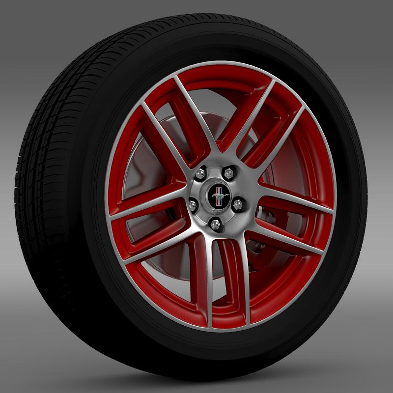 ford mustang boss 302 laguna seca 2012 wheel 3d model 3ds max fbx c4d lwo ma mb hrc xsi obj 139597