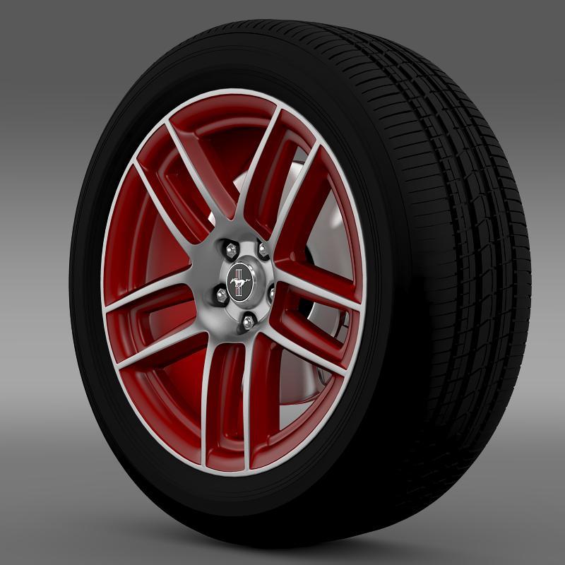 ford mustang boss 302 laguna seca 2012 wheel 3d model 3ds max fbx c4d lwo ma mb hrc xsi obj 139598
